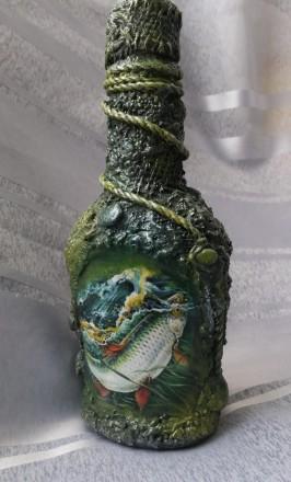 Бутылочка подарочная (для рыбака). Запоріжжя. фото 1