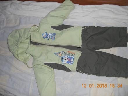 Продам теплый комбинезон с курткой для мальчика. Первомайск. фото 1