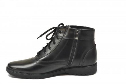Ботинки высокие, на шнурке и молнии, кожаные. К5252. 40-45р.. Каменское. фото 1