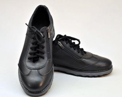 Ботинки мужские, кожаные. Б5450. 40-44р.. Каменское. фото 1