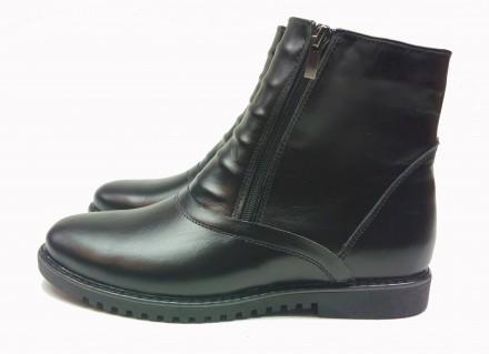 Ботинки мужские, кожаные. Б5452. 40-45р. Высокие.. Каменское. фото 1