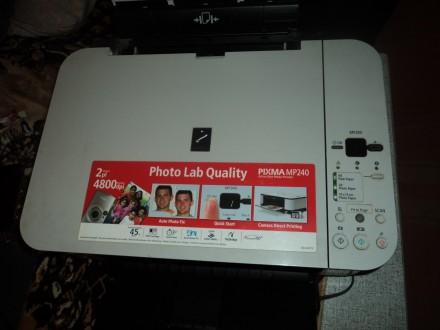 Продам МФУ(копир/принтер/сканер) Сanon Pixma MP240. Без картриджей. Возможна п. Николаев, Николаевская область. фото 3