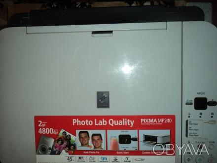 Продам МФУ(копир/принтер/сканер) Сanon Pixma MP240. Без картриджей. Возможна п. Николаев, Николаевская область. фото 1