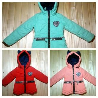 классные демисезонные куртки для девочек 80-116см. Сумы. фото 1