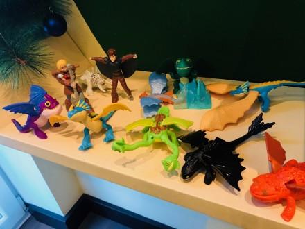 Как приручить дракона Макдональдс. Коллекция из 11 редких игрушек  https://obyav. Запорожье. фото 1