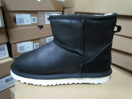 UGG Classic Mini Leather Black. Киев. фото 1