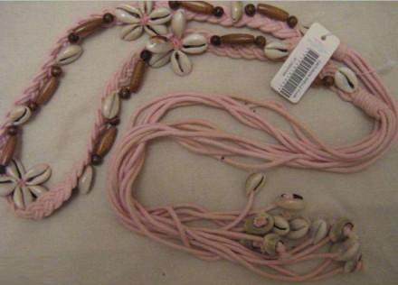 Продам женский пояс с декором из натуральных ракушек. Запорожье. фото 1