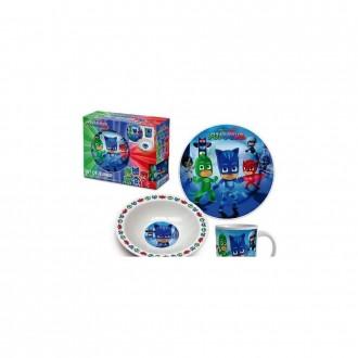 Набор детской посуды Disney Pjmasks (LQ0093). Переяслав-Хмельницкий. фото 1