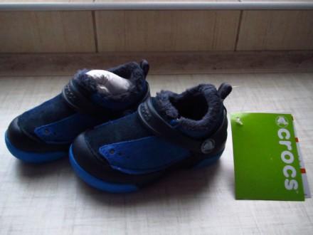 Ботинки с мехом Crocs Kids Dawson Slip-on. Херсон. фото 1