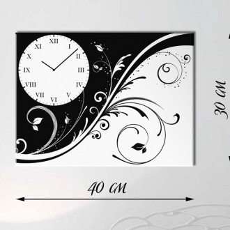 Часы-картина на холсте 30х40 см. Київ. фото 1