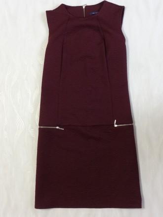 Стильное платье сарафан бордовое Marks&Spencer р.52. Сумы. фото 1