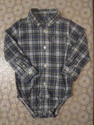 Рубашка-бодик  Carter`s 18 м для мальчика. Киев. фото 1