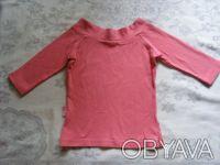 Классная стильная розовая футболка.По вороту-вышивка.Рукав укороченный. длина-3. Никополь, Днепропетровская область. фото 3
