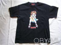 Классная стильная футболка для подростка черного цвета.100% хлопок.В отличном со. Никополь, Днепропетровская область. фото 2