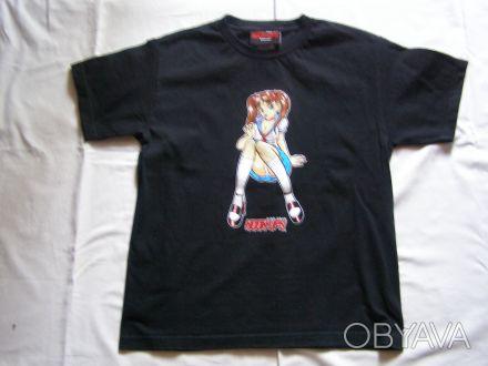Классная стильная футболка для подростка черного цвета.100% хлопок.В отличном со. Никополь, Днепропетровская область. фото 1