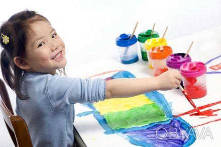 Приглашаем детей от 3-6 лет на уроки живописи   В содержание урока входит:  . Днепр, Днепропетровская область. фото 1