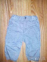 модные брюки H&M 4-6 мес, 68 см.  Очень симпатичные брюки серого цвета в тонкую. Днепр, Днепропетровская область. фото 2