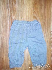 модные брюки H&M 4-6 мес, 68 см.  Очень симпатичные брюки серого цвета в тонкую. Днепр, Днепропетровская область. фото 3