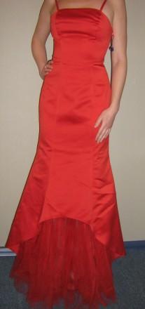 Продам вечернее платье-рыбка, для дружки или креативной невесты, верх - плотный . Запорожье, Запорожская область. фото 2