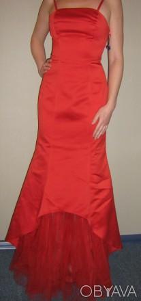 Продам вечернее платье-рыбка, для дружки или креативной невесты, верх - плотный . Запорожье, Запорожская область. фото 1