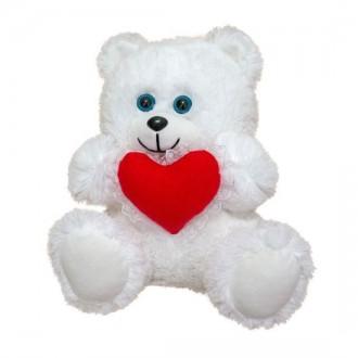Мягкая игрушка Медвежонок с сердцем травка. Переяслав-Хмельницкий. фото 1