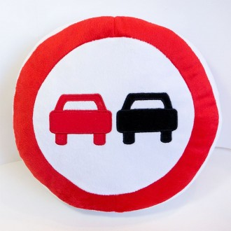 Мягкая игрушка Подушка знак Обгон запрещен. Переяслав-Хмельницкий. фото 1