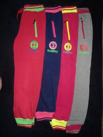 Спортивные штаны брюки 134-164 на девочку, утепленные, начес, Венгрия. Полтава. фото 1