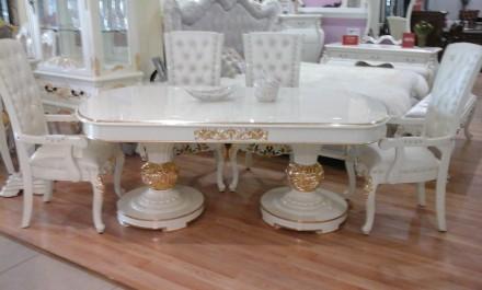 Стол и стулья в стиле Барокко.. Днепр. фото 1
