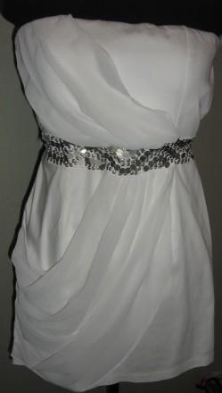 Продам женское, нарядное платье из стрейч-коттона и шифона, подойдет на размеры . Запорожье, Запорожская область. фото 3