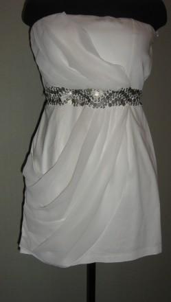 Продам женское, нарядное платье из стрейч-коттона и шифона, подойдет на размеры . Запорожье, Запорожская область. фото 2