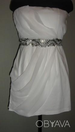 Продам женское, нарядное платье из стрейч-коттона и шифона, подойдет на размеры . Запорожье, Запорожская область. фото 1
