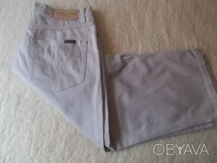 Продам светлые коттоновые джинсы на крупного мальчика 7-8 лет в хорошем состояни. Чернигов, Черниговская область. фото 1