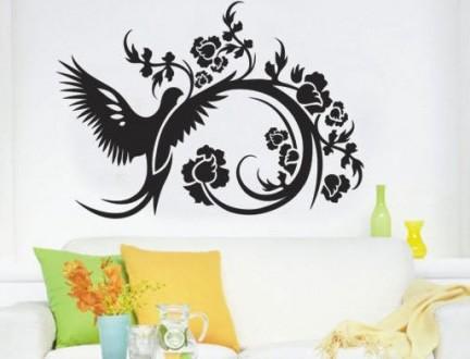 Интерьерная наклейка на стену Птица (XY1090). Переяслав-Хмельницкий. фото 1