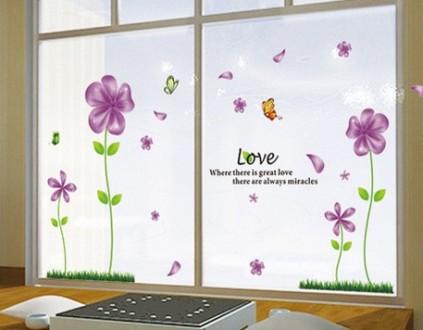 Интерьерная наклейка на стену Сиреневые цветы (mAY650B). Переяслав-Хмельницкий. фото 1
