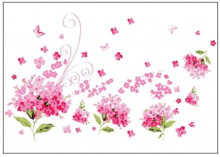 Интерьерная наклейка на стену Гортензия (AY957). Переяслав-Хмельницкий. фото 1