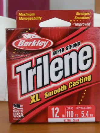 Леска Berkley Trilene XL Smooth Casting 100 m (made in USA). Измаил. фото 1