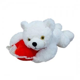 Мягкая игрушка Медведь Соня с сердцем. Переяслав-Хмельницкий. фото 1