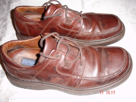 Туфли/туфлі 43 р., шкіряні, італійські, темно-коричневі, б/в. Львов. фото 1