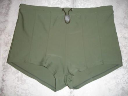 Плавки по типу шортів 44 р., нові, спокійно-зелені. Львов. фото 1