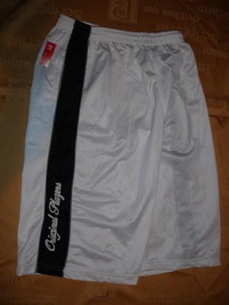 Штаны/штани-капрі L-ка нові, білі, спортивні, полістерові, чоловічі. Львов. фото 1