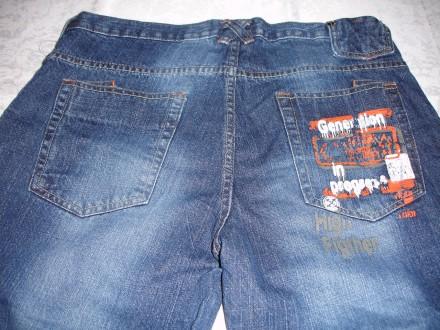Капри/капрі джинсові, 48 р., нові, темно-сині, чоловічі, котонові. Львов. фото 1