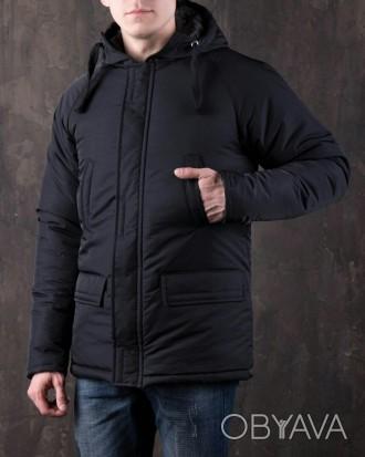69c28c3210a ᐈ Парка Зимняя Мужская Куртка Пуховик синяя черная ᐈ Львов 700 ГРН ...
