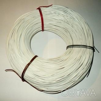 провод монтажный МГШВ сеч - 0,12 мм², луженый, белый, многожильный, - бухтами – . Светловодск, Кировоградская область. фото 1