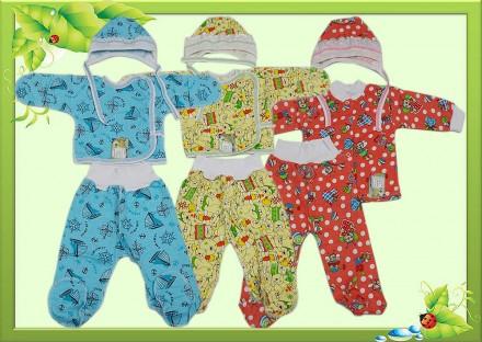 Комплект для новорожденных с футера начесного М2013-06. Горишные Плавни. фото 1