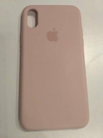 Панель Apple Silicone Case для iPhone X Pink Sand. Киев. фото 1
