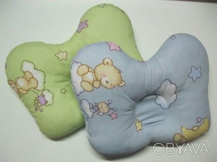 Ортопедична подушка для немовлят. Модель-Метелик Склад: Наволочка- 100% бавовн. Сумы, Сумская область. фото 1