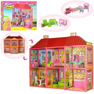 Кукольный домик 6983 с мебелью, 2 этажа и 6 комнат. Винница. фото 1