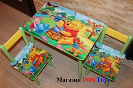 Детский столик (стол) Винни с медом (100 вариантов). Київ. фото 1