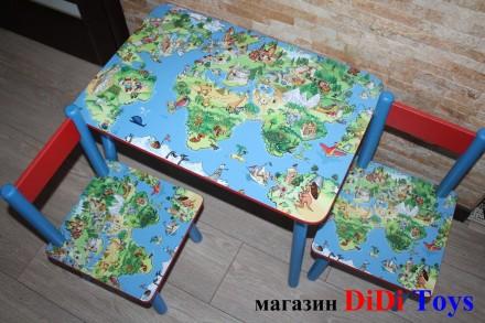Детский стол Карта мира (варинаты) 1-7 лет. Київ. фото 1