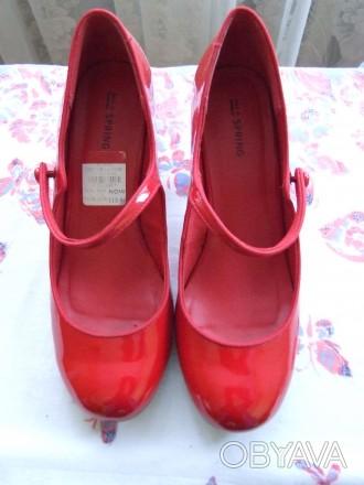Пять пар женских туфель. В отличном состоянии.Один раз одевались. Красные и борд. Сумы, Сумская область. фото 1